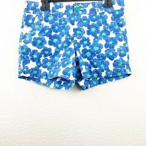 Lilly Pulitzer Womens Blue Floral Shorts